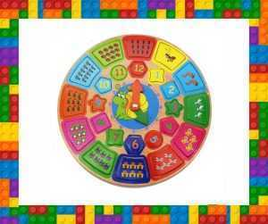Kids Wooden clock educational toy